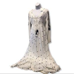 Free the Roses | NWT Boho Embroidered Maxi Dress